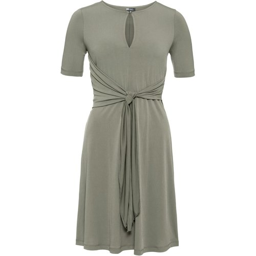 Damen Shirtkleid, in Oliv