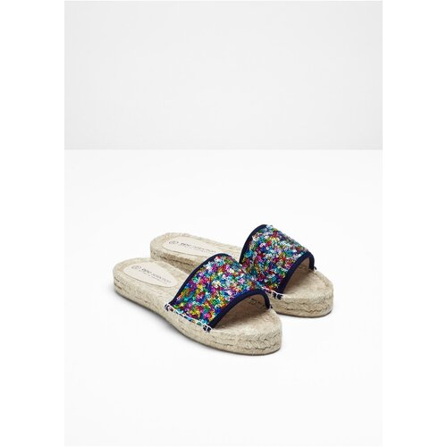 Damen Espadrille, in Blau Multi