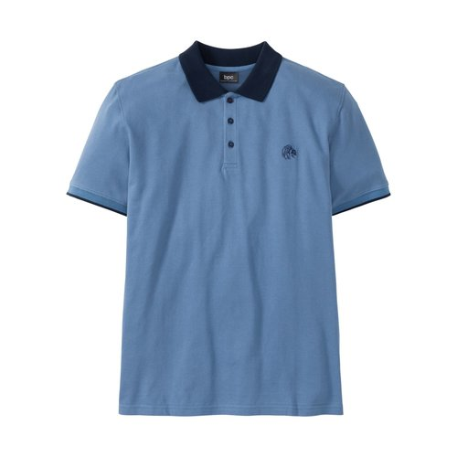 Herren Poloshirt Regular Fit, in Jeansblau