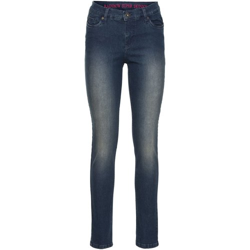 Damen Super Skinny Jeans, in Dirty Denim