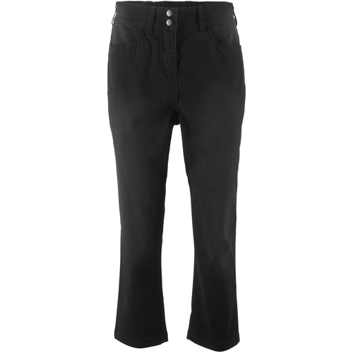 Damen 3/4 Stretch Hose mit Komfortbund, in Schwarz