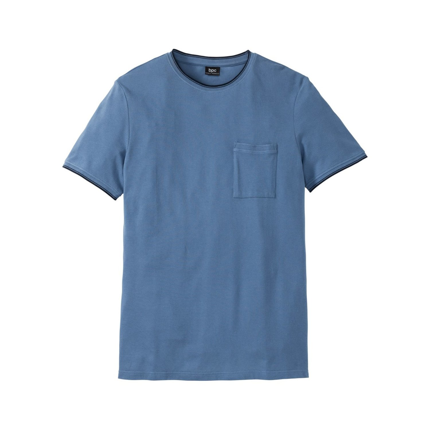 Herren Piqué-T-Shirt Regular Fit, in Blau