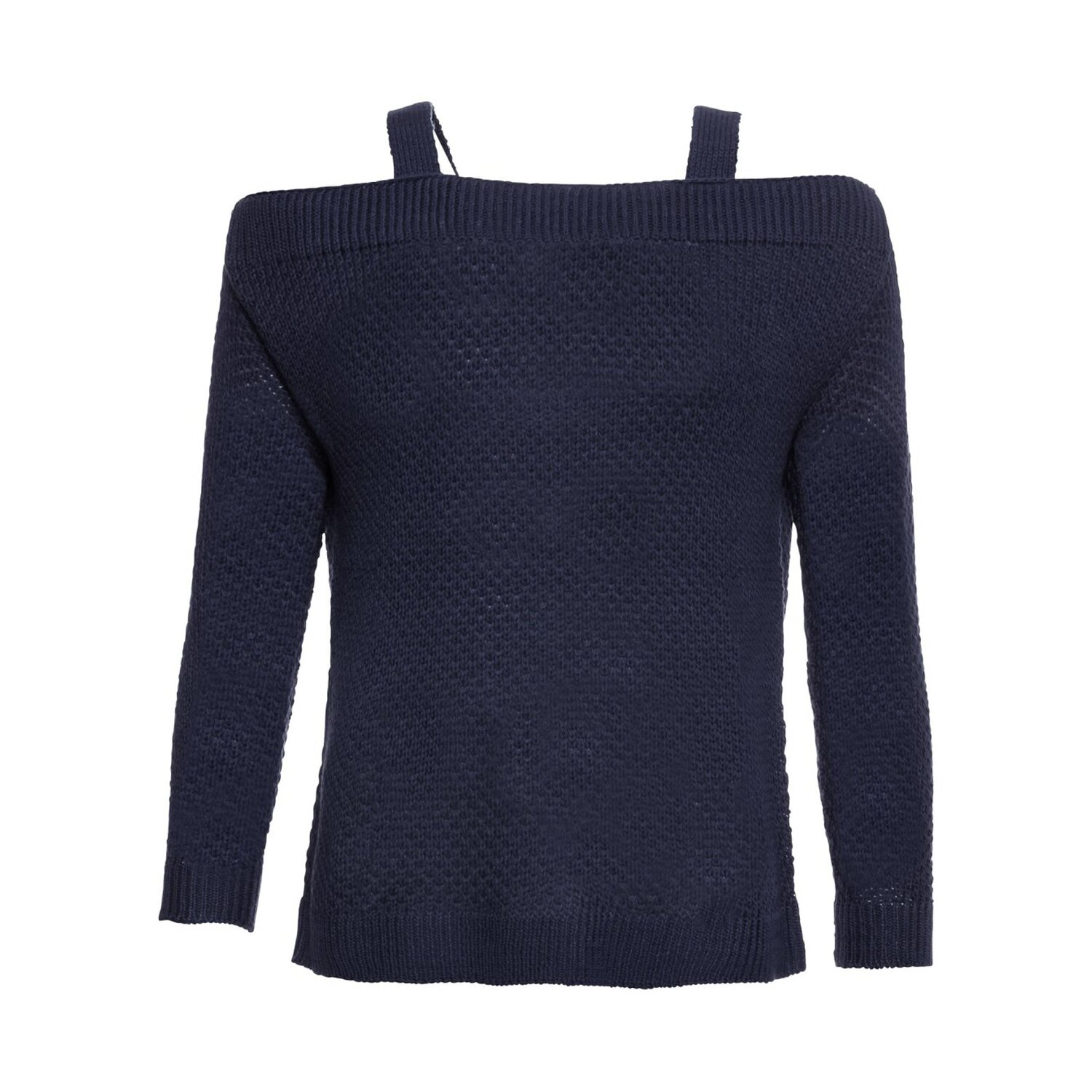 Damen Pullover mit Cut Outs, in Blau