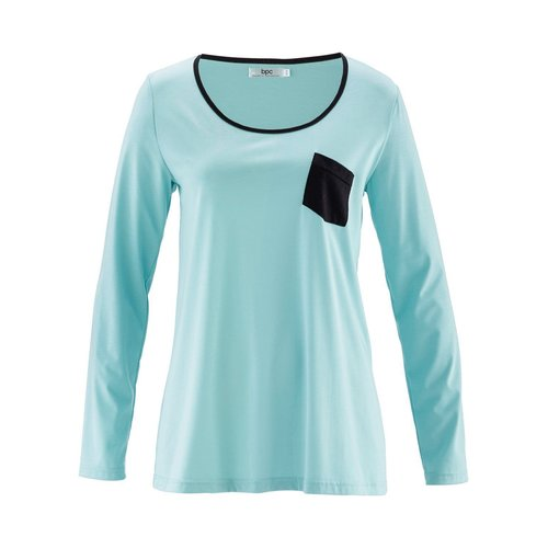 Damen Langarmshirt, in Aquapastell