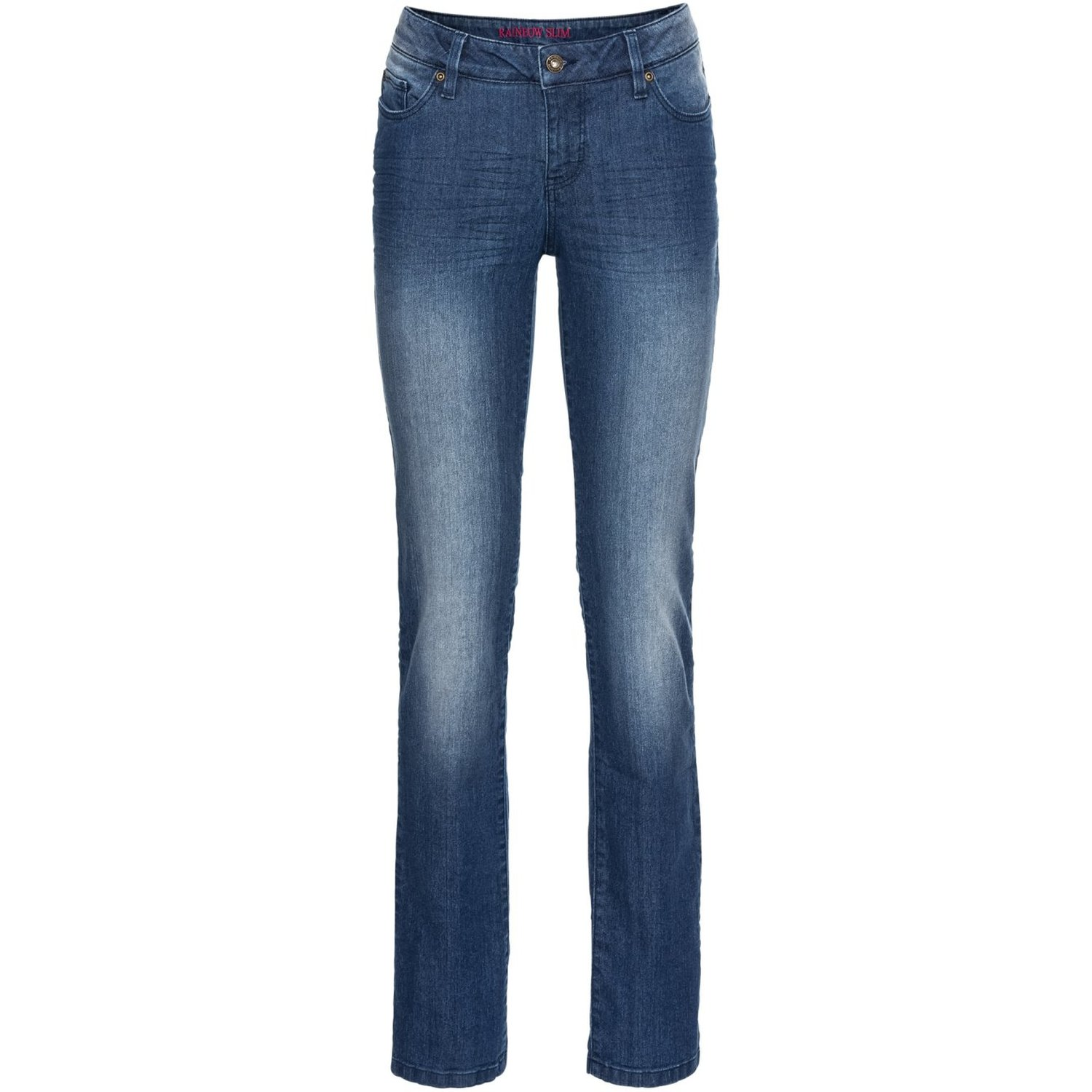 Damen Slim-Fit Jeans Straight, in Blue Stone