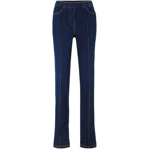 Damen Schlankmacher Jeans mit Biesen, in Dark Denim