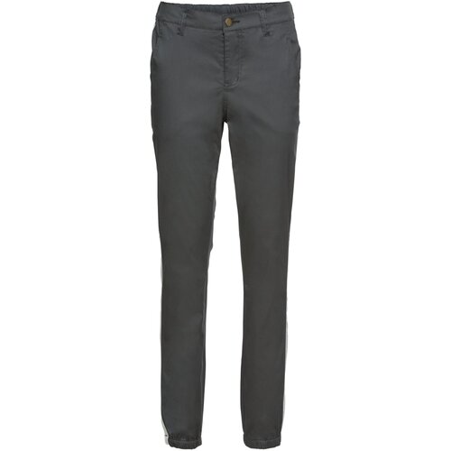 Damen Hose, 279317 in Anthrazit/Weiß