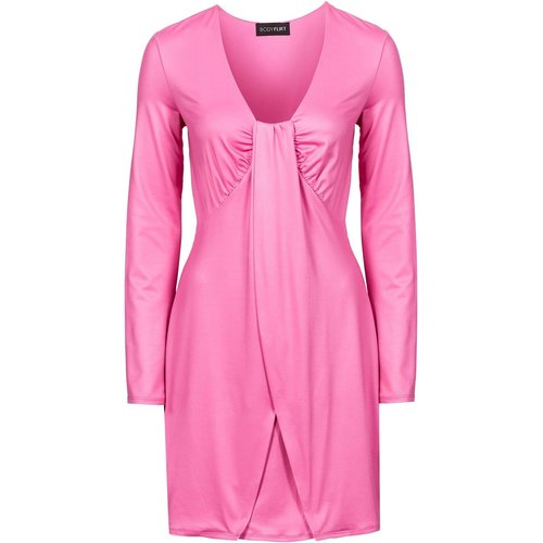 Damen Kleid in Wickeloptik, in Flamingopink