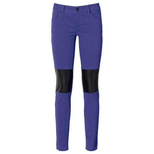 Damen Stretch Hose im Bikerstil, in Saphirblau
