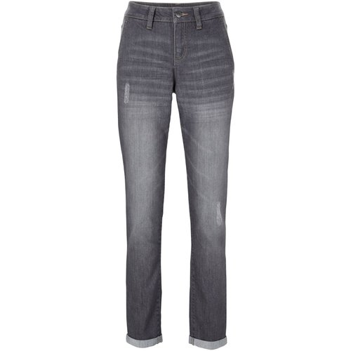 Damen Komfort-Stretch-Boyfriend-Jeans, 300154 in Grey Denim