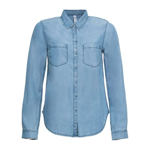 Damen Jeansbluse, 301615 in Blue Bleached