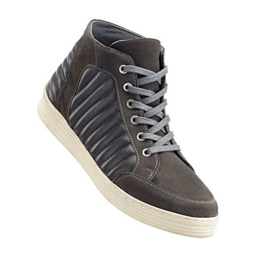 Damen Leder-Mix Sneaker, in Dunkelgrau