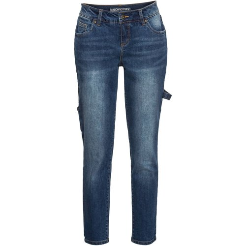 Damen Boyfriend Jeans, in Blue Bleached