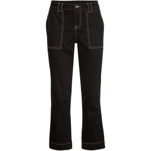 Damen Ausgestellte Jeans, 310136 in Black Denim