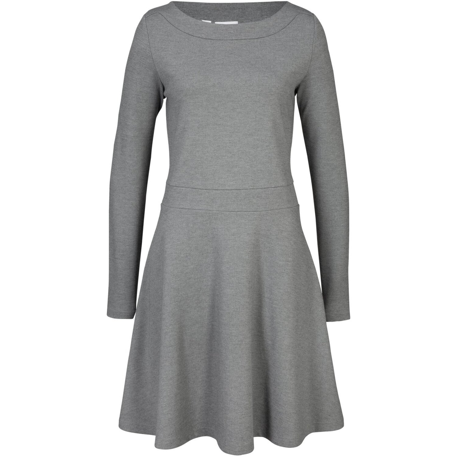 Damen Kleid, in Grau Meliert