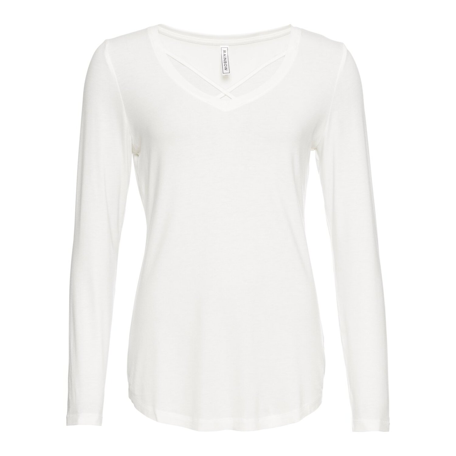 Damen Langarmshirt, in Wollweiß