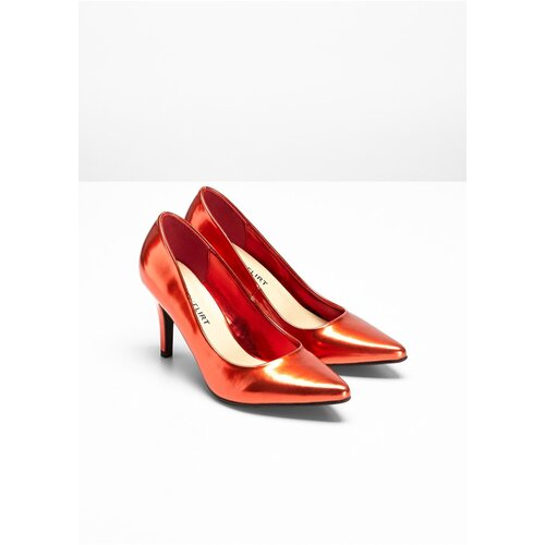Damen Pumps, 313519 in Rot Metallic