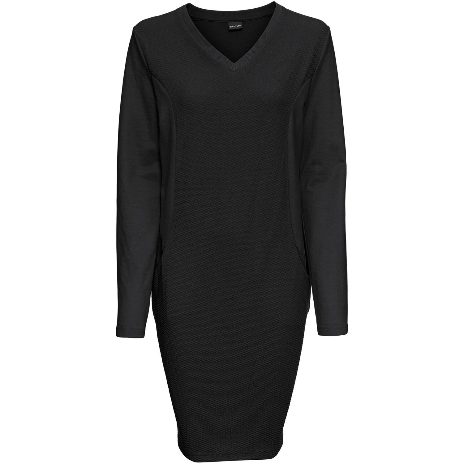 Damen Sweatkleid, in Schwarz