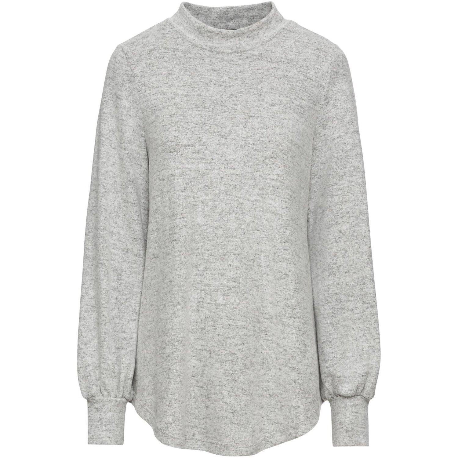 Damen Kuscheliges Sweatshirt, 317071 in Hellgrau Meliert