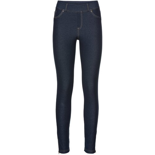 Damen Leggings in Jeansoptik mit Zipper, 319084 in Blue...