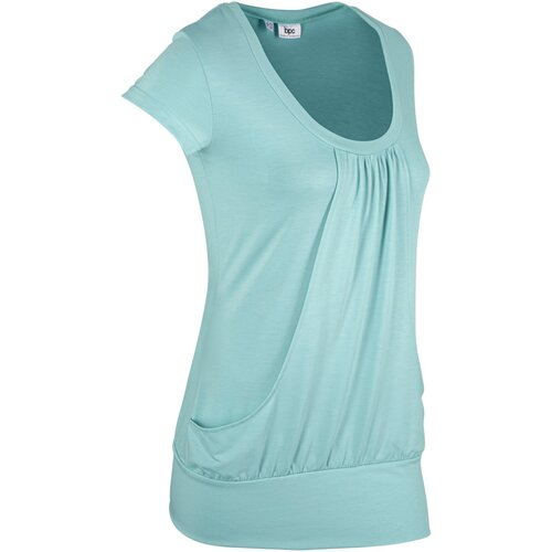 Damen Sport-Stretch-Longshirt kurzarm, in Aquapastell
