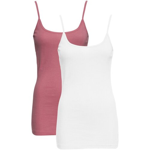 Damen 2er-Pack Tops, in Wei?/Softbeere