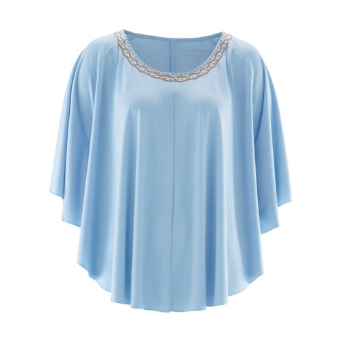 Damen Shirt-Tunika, in Eisblau