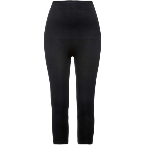Damen Shape Seamless Capri Leggings Level 2, in Schwarz