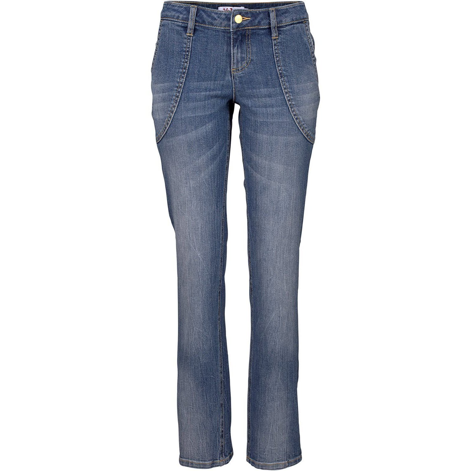 Damen Stretch Jeans STRAIGHT L-Größe, in Blau