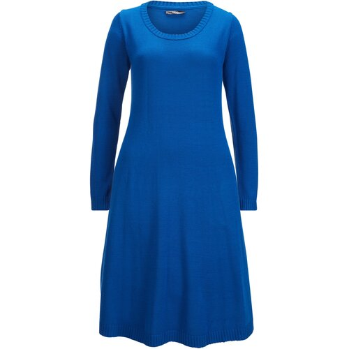 Damen Strickkleid in ausgestellter Form, 372245 in Blau