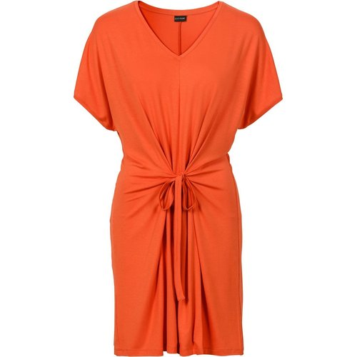 Damen Wickelkleid, in Mattorange