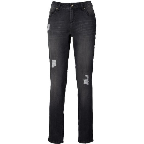 Damen Boyfriend Jeans, in Black Stone