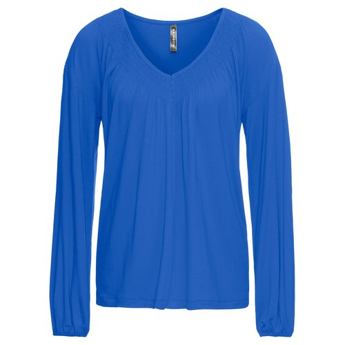 Damen Shirt mit Raffungen, in Blau