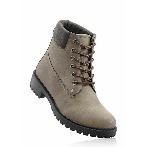 Damen Boots, in Taupe