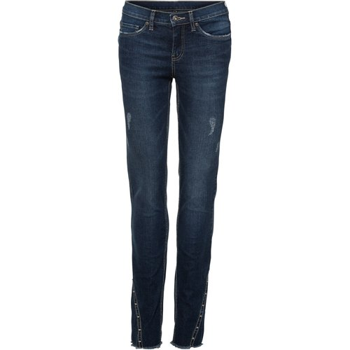 Damen Skinny Jeans mit Nieten, in Dark Denim