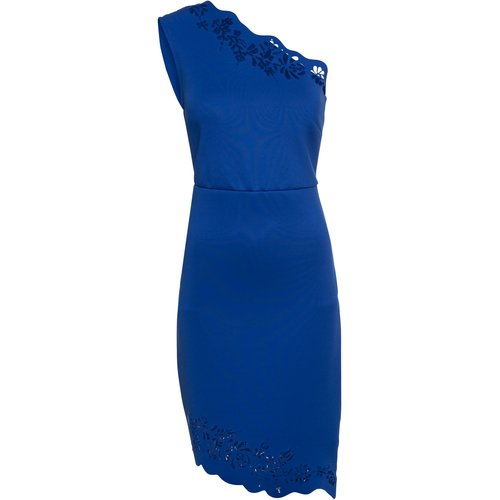 Damen One Shoulderkleid mit Cut Out, in Blau